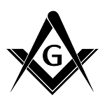 Simple Square & Compass with G Masonic Vinyl Decal