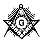 Shining Square & Compass Masonic Vinyl Decal