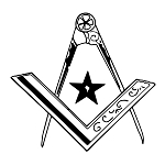 Star Square & Compass Masonic Vinyl Decal