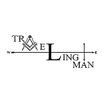 Traveling Man Square & Compass Masonic Vinyl Decal