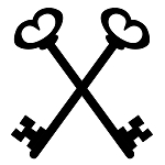 Treasurer Crossed Keys Masonic Vinyl Decal