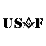 United States Air Force Square & Compass Masonic Vinyl Decal