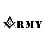 United States Army Square & Compass Car Auto Window Vinyl Decal
