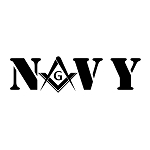 United States Navy Square & Compass Masonic Vinyl Decal