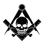 Widow's Son Square & Compass Masonic Vinyl Decal