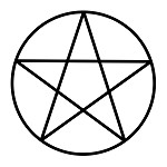 Pentacle Point Up Masonic Vinyl Decal