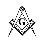 Square & Compass with G Masonic Vinyl Decal