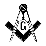Traditional Variation Square & Compass Masonic Vinyl Decal