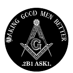 Making Good Men Better Round Masonic Bumper Sticker - 4.5