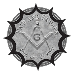 Fair and Square Just & Honest Round Masonic Bumper Sticker - 4.5