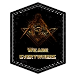 We Are Everywhere Square & Compass Masonic Bumper Sticker - 5