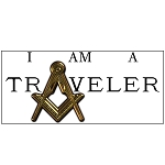 I Am a Traveler Square & Compass Masonic Bumper Sticker - 11