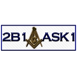 2B1ASK1 Square & Compass Masonic Bumper Sticker - [5.25'' Wide]