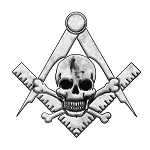 Widow's Son Square & Compass Masonic Bumper Sticker - [5'' Tall]