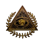Wreathed All Seeing Eye Masonic Bumper Sticker - [3.75'' Tall]