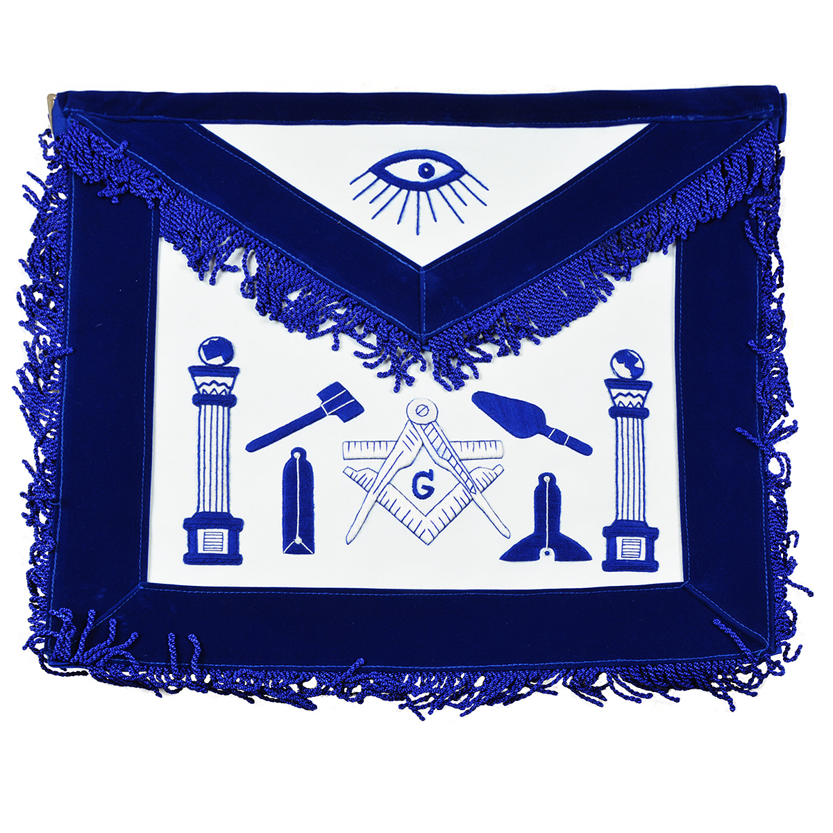Master Mason Working Tools Apron W Velvet Ribbon