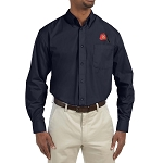 Shriner Fez Embroidered Masonic Men's Poplin Button Down Dress Shirt