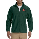 Shriner Fez Embroidered Masonic Men's Fleece Full-Zip Jacket