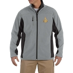 Square & Compass Embroidered Masonic Men's Soft Shell Jacket