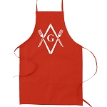 Square & Compass Knives & Forks Masonic Cooking Kitchen Apron