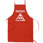 Protected By All Seeing Eye Masonic Cooking Kitchen Apron