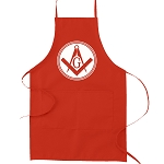 Square & Compass Filled Circle Masonic Cooking Kitchen Apron