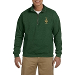 Prince Hall PHA 1787 Embroidered Men's Quarter-Zip Sweatshirt