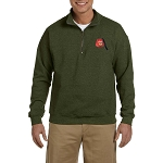Shriner Fez Embroidered Men's Quarter-Zip Sweatshirt