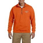 All Seing Eye Embroidered Men's Quarter-Zip Sweatshirt