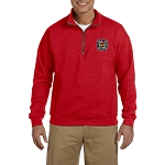 Knights Templar Embroidered Men's Quarter-Zip Sweatshirt