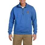 Prince Hall PHA 3 5 7  Embroidered Men's Quarter-Zip Sweatshirt