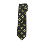 Square & Compass Black Gold Blue Tie