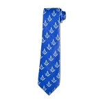 Square & Compass Blue & Silver Tie