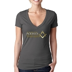 If Today Were Perfect There Would Be No Need For Tomorrow Masonic Women's V-Neck T-Shirt