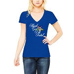 Thank God I'm Fatal OES Women's V-Neck T-Shirt