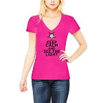 Keep Calm and See the Light OES Women's V-Neck T-Shirt