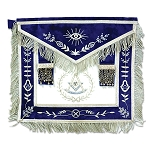 Fringed Past Master Masonic Apron with Embroidered Border