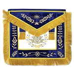 Grand Lodge Past Master Masonic Apron with Blue Velvet