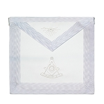 White Past Master Masonic Apron with All Seeing Eye