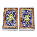 Rotary International Tapestry Two Coaster Set - 6