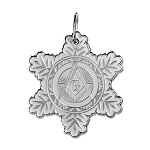 Snowflake Square & Compass Holiday Ornament - 2 1/2