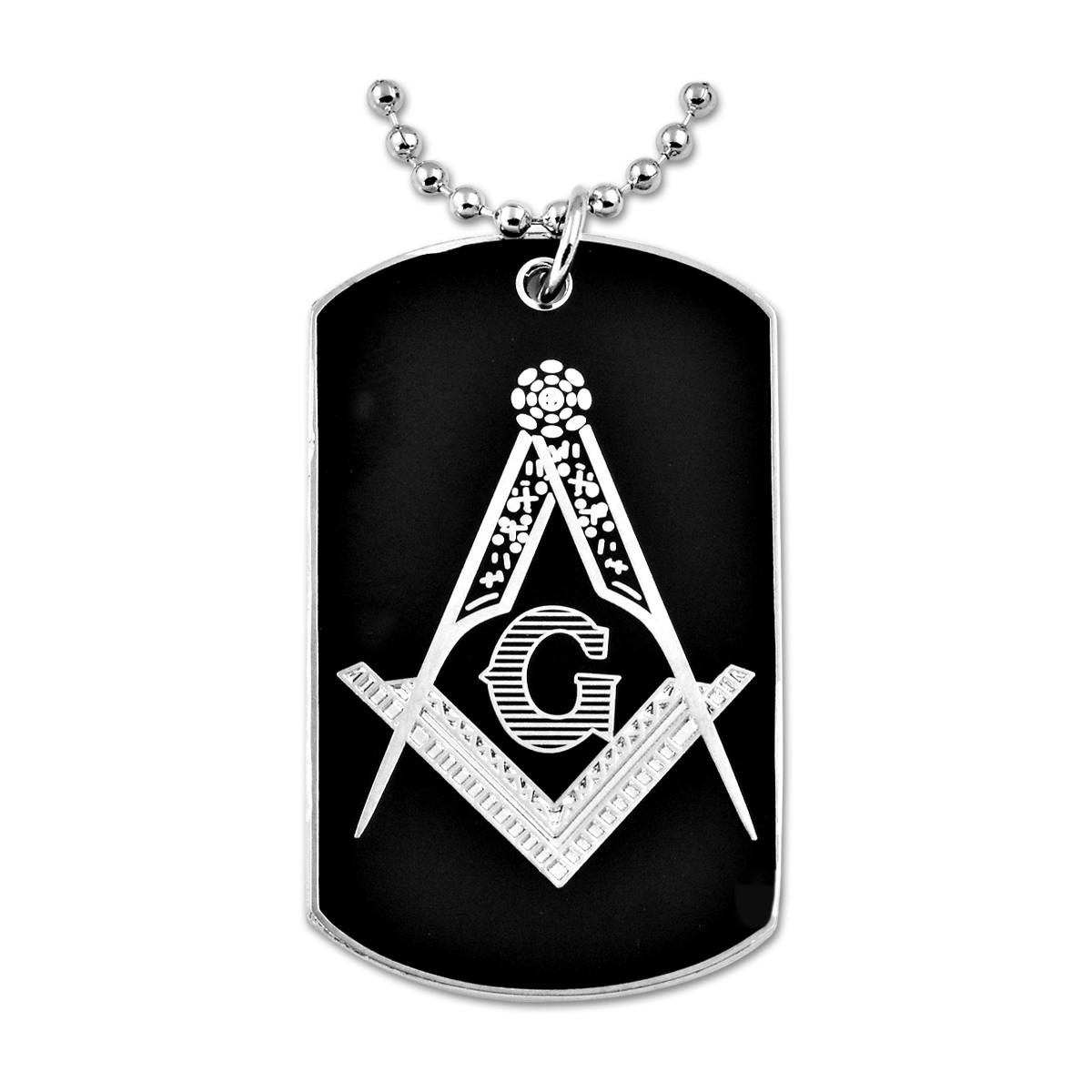 Engraved Dog Tag Necklace The Masonic Exchange