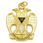 32nd Degree Double Headed Eagle Scottish Rite Gold Pendant/Jewel - 1 1/2