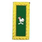 Knights Templar Captain General Rooster Green and Gold Embroidered Patch - 4 1/8