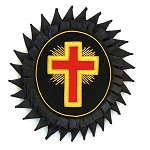 Knights Templar Cross Red Gold & Black Embroidered Patch