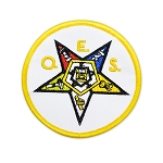 Order of the Eastern Star (O.E.S.) Round Embroidered Patch - 3