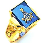 Blue Lodge Ring MAS1158BL