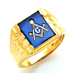 Blue Lodge Ring MAS1280BL