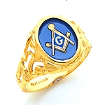 Blue Lodge Ring MAS60336BL