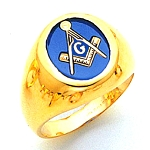 Blue Lodge Ring MAS60337BL